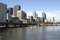 Melbourne downtown, Australia,. Modern architecture in urban city, Yarra river Stock Image