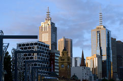 Melbourne Downtown Skyline Royalty Free Stock Image