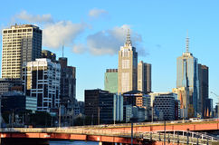 Melbourne Downtown Skyline Royalty Free Stock Photo