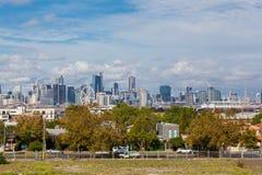 Melbourne du centre avec les bâtiments modernes Photo stock