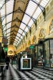 Melbourne-Einkaufen-Säulengang Lizenzfreie Stockbilder