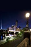 Melbourne em Noite Imagem de Stock Royalty Free