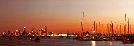 Melbourne en el amanecer Imagenes de archivo