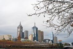 Melbourne en invierno imagen de archivo libre de regalías