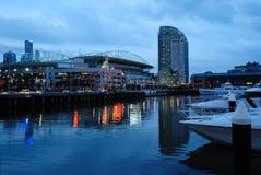 Melbourne en la noche Imagen de archivo