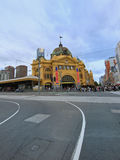 Melbourne, estación de la calle del Flinders Imagenes de archivo