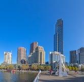 Melbourne Eureka i Footbridge wierza Obraz Stock