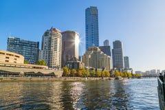 Melbourne Eureka i Footbridge wierza Obrazy Royalty Free