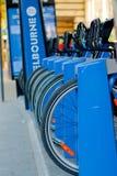 Melbourne-Fahrradanteil Stockbild