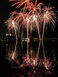Melbourne fajerwerki zdjęcie stock