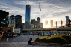 Melbourne federation square Royalty Free Stock Photography