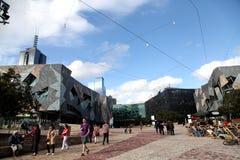 Melbourne federationfyrkant Arkivbild