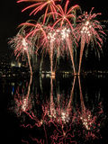 Melbourne fireworks Stock Photo