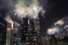 Melbourne fireworks Royalty Free Stock Image