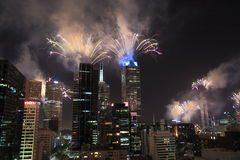 Melbourne fireworks Royalty Free Stock Photos