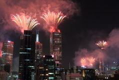 Melbourne fireworks Stock Photos