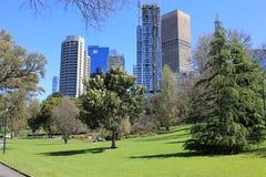 Melbourne Fitzroy trädgårdar Arkivfoton