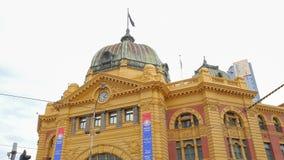 Melbourne Flinders Street tram station stock video footage