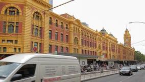 Melbourne Flinders Street tram station stock video