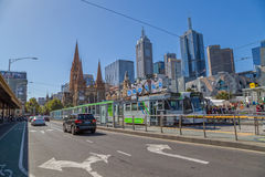Melbourne Flinders Street tram station Royalty Free Stock Photography