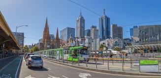 Melbourne Flinders tramwaju Uliczna stacja Obrazy Royalty Free
