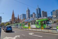 Melbourne Flinders ulicy widok Zdjęcia Stock
