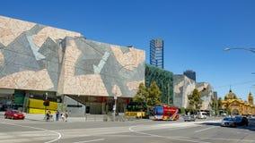 Melbourne Flindersgata arkivfoto