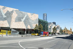 Melbourne Flindersgata royaltyfri foto
