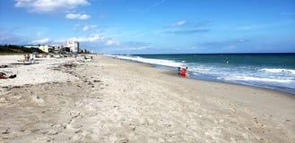 Melbourne Florida Beach. Serene shores in Melbourne Florida stock photography