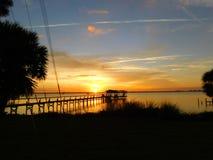 Melbourne, Florida, Januari-Zonsondergang Stock Afbeeldingen