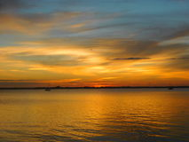 Melbourne, Florida, por do sol de janeiro Imagem de Stock