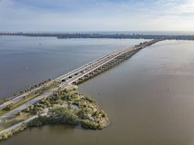 Melbourne Floryda droga na grobli most Obrazy Royalty Free