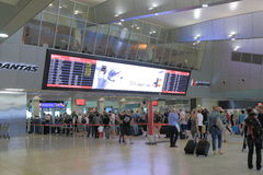 Melbourne flygplats Royaltyfria Bilder
