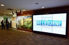 Melbourne flygplats - Tullamarine Airpor royaltyfri fotografi