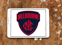 Melbourne Football Club logo. Logo of Melbourne Football Club on samsung mobile. The Melbourne Football Club, nicknamed the Demons, is a professional Australian Stock Photography