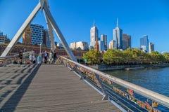 melbourne footbridge Obrazy Royalty Free