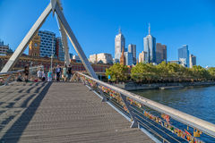 Melbourne Footbridge Royalty Free Stock Images