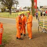 Melbourne-Formel 1 2010. Mechaniker und Boden Stockbilder