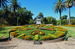 Melbourne-Gärten und Blumenborduhr Lizenzfreies Stockbild