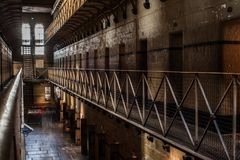 Melbourne-Gaol-Sonnenlicht stockfoto