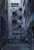 Melbourne-Gassen-Wand-Kunst stockfotos