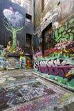 Melbourne gatagrafitti Arkivfoton