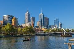 Melbourne gondoli romantyczna przejażdżka Zdjęcia Royalty Free