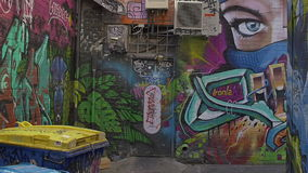 Melbourne graffiti Croft alley stock video footage