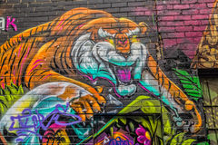 Melbourne graffiti tiger Royalty Free Stock Photo