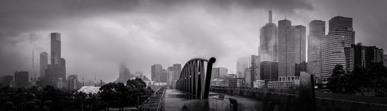 melbourne on a grey winter morning Stock Photography