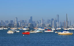 Melbourne habour cityscape Stock Image