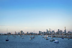 Melbourne harbor Stock Photos