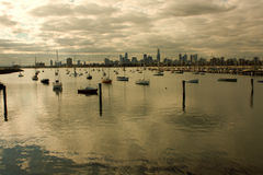 Melbourne Harbor Royalty Free Stock Photo