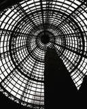 Melbourne-Hauptbahnhofsschwarzweiss-Hintergrund Stockfotos